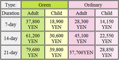 Japan Rail Prices