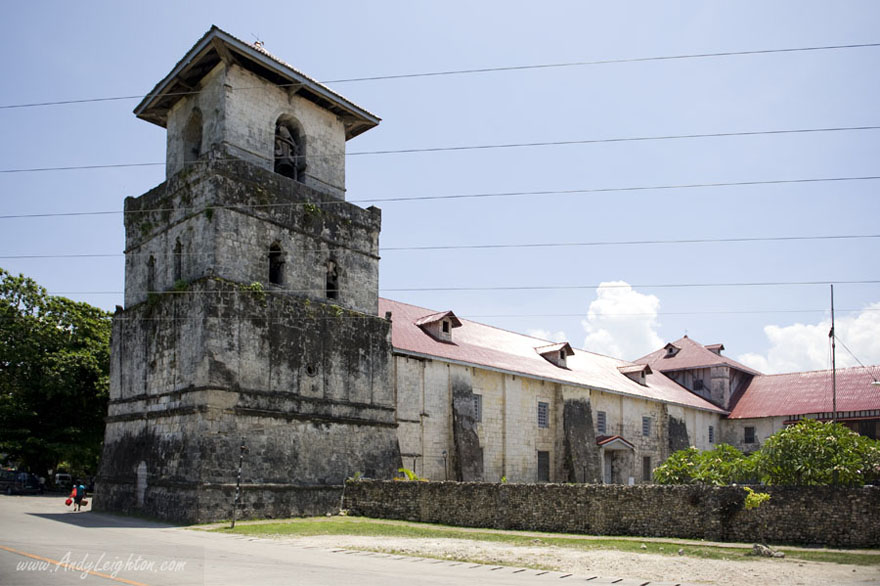 The Baclayon Church Belltower on Bohol Island, Philippines.