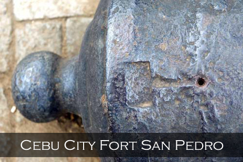 This shows the place where the fuse powder was lit to fire the canon. San Pedro Fort, Cebu City, Philippines