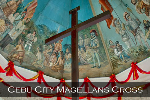 Magellan's Cross was planted by Spanish explorer Ferdinand Magellan when he arrived in the Philippines on April 8th 1521, the cross is housed next to the 16th century Basilica del Santo Nino Church in Cebu City, Philippines