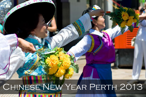 Menu image link for the Perth Chinese New Year 2013 stock photography pages and photographs