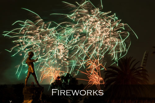 Menu image link for the Perth Fireworks stock photography pages and photographs