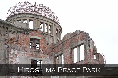 This building serves as a memorial to the people who were killed in the atomic bombing of Hiroshima, the atomic bomb detonated almost directly above the dome at 8.15am August 6, 1945, Hiroshima Peace Memorial Park, Japan