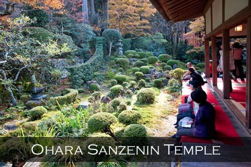 View from the veranda at Sanzenin Temple. Ohara, Japan