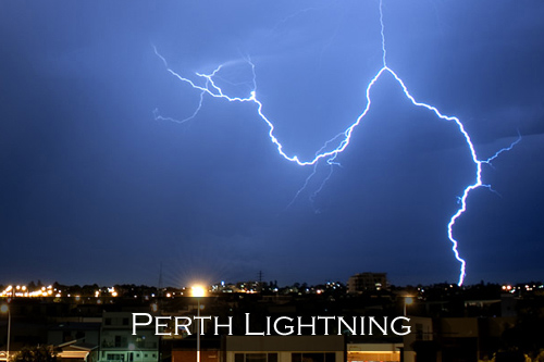 Menu image link for the Perth Lightning stock photography pages and photographs
