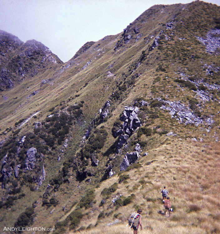 Just another hill to climb, so you can go down the other side of it, and plenty more to go. Kopara, Westland, New Zealand. Tony Ellery, Phillip Pascoe, Tony Newton
